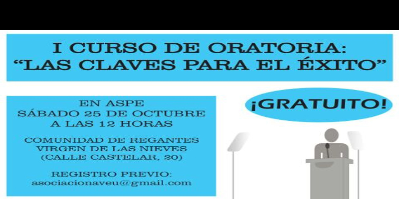 Photo of Aveu organiza el I Curso de Oratoria en Aspe