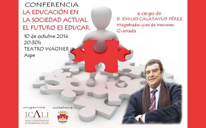 Photo of El juez de menores Emilio Calatayud impartirá una conferencia en Aspe