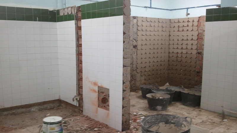 Photo of Continúan las reformasde adaptación en los vestuarios del PabellónMunicipal