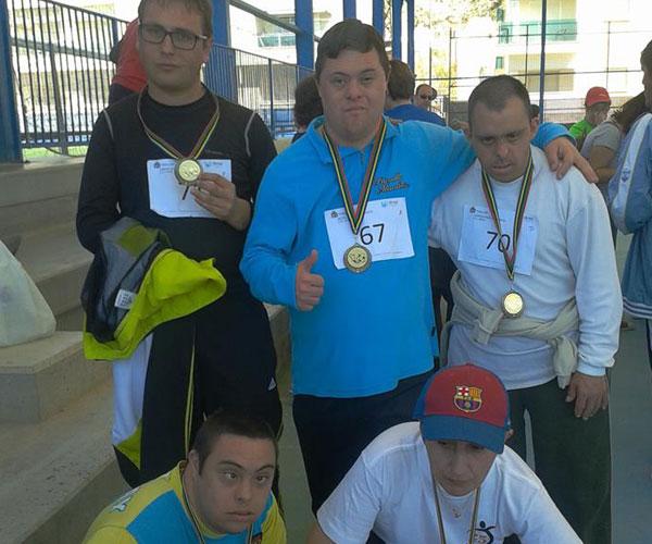 Photo of Medallas de oro y participación para APDA en las Pruebas Adaptadas de Fútbol
