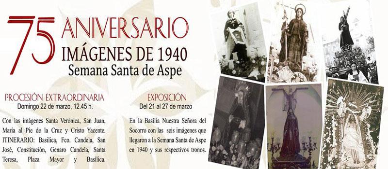 Photo of La procesión del 75 aniversario de las imágenes de 1940 se celebrará el Sábado de Pasión