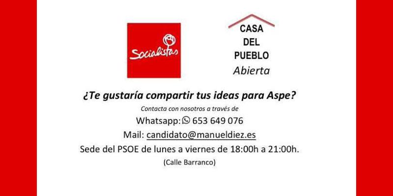 Photo of El candidato del PSOE abre una línea de whatsapp para recibir ideas de los ciudadanos