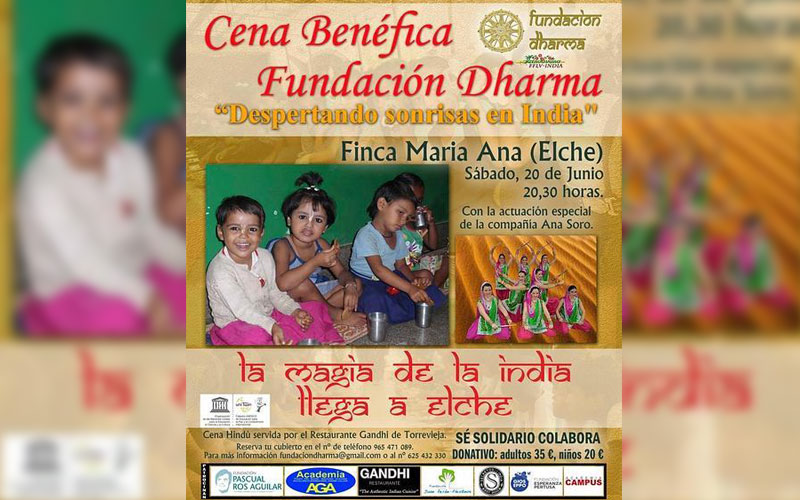 Photo of Cena benéfica de la Fundación Dharma a beneficio de India