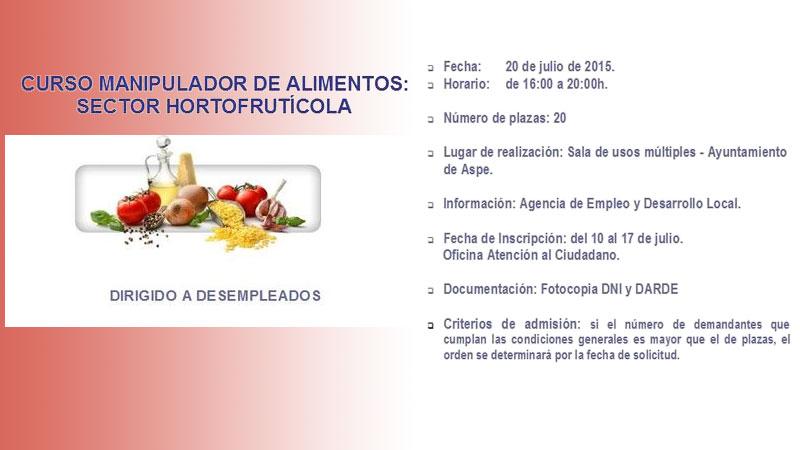 Curso de manipulador de alimentos para desempleados valle de las uvas aspe noticias - Www manipulador de alimentos es ...