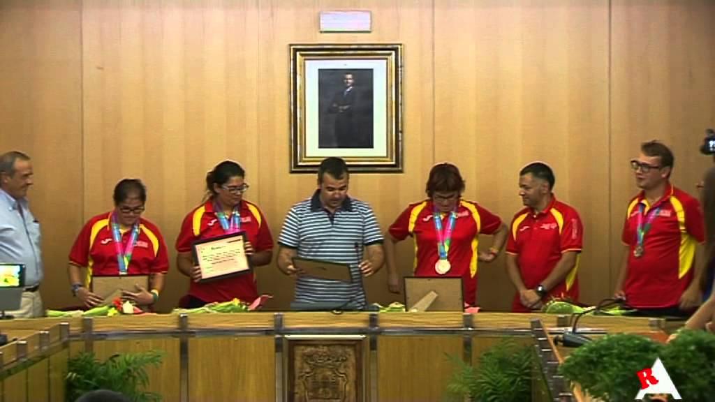 Photo of Vídeo: Recepción en el ayuntamiento de Aspe a los deportistas participantes en el Special Olympics