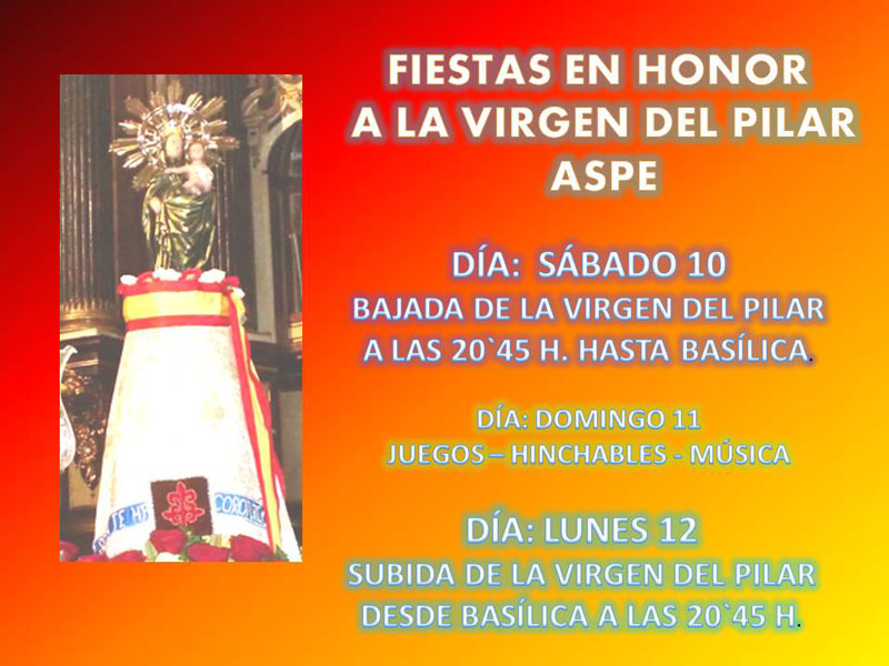 Photo of Fiestas en honor a la Virgen del Pilar