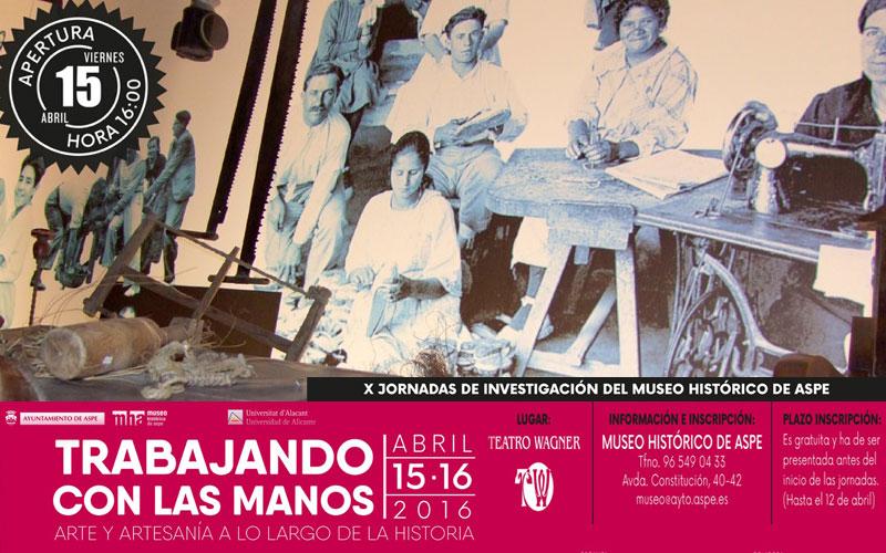 """Photo of """"Trabajando con las manos. Arte y Artesanía en la Historia"""", título de las X Jornadas del Museo de Aspe"""