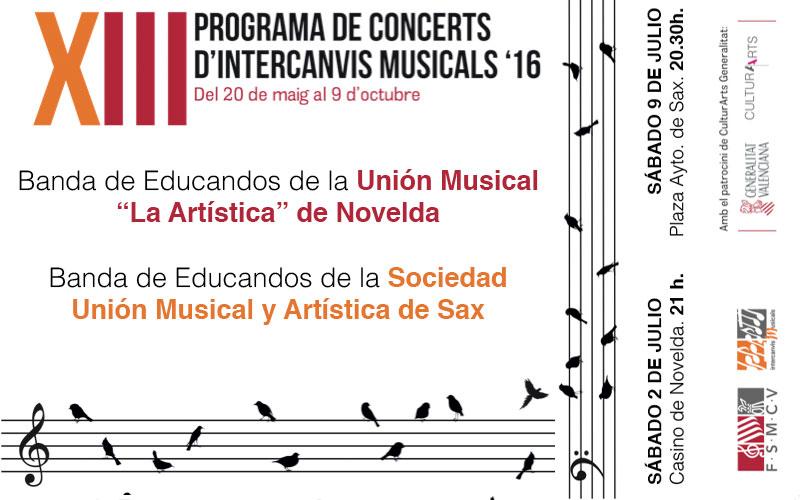 """Photo of #Novelda – La Unión Musical de Sax compartirá escenario con """"La Artística"""" de Novelda"""