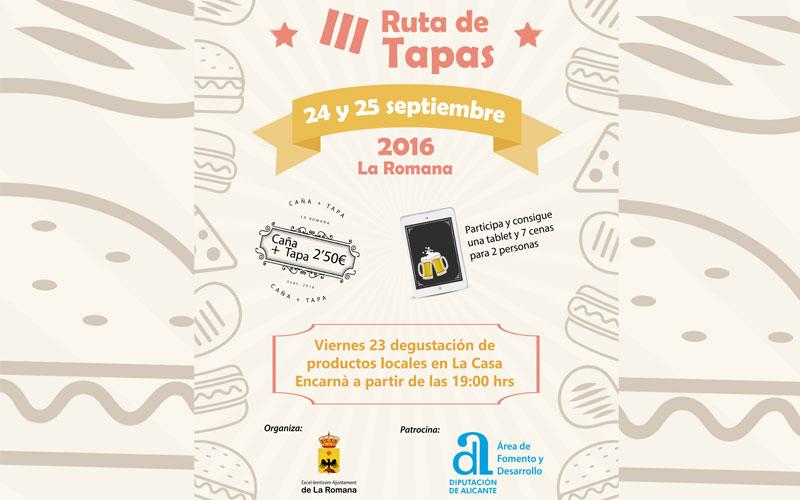 Photo of #La Romana: Este fin de semana se celebra la III Ruta de tapas
