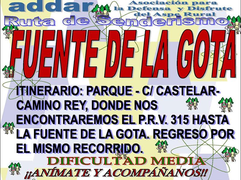 Photo of #Aspe – Ruta de senderismo de ADDAR a la Fuente de la Gota
