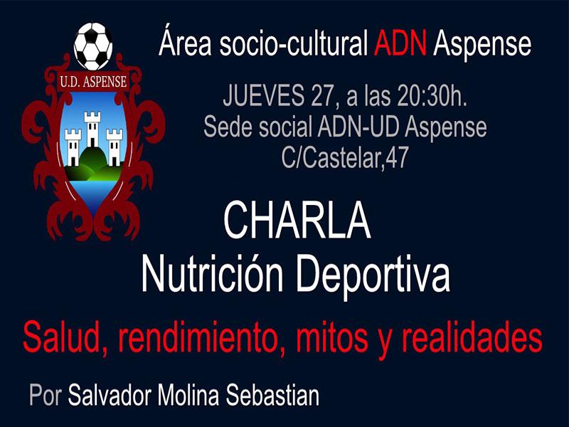 Photo of #Aspe – Charla sobre nutrición deportiva organizada por la UD Aspense
