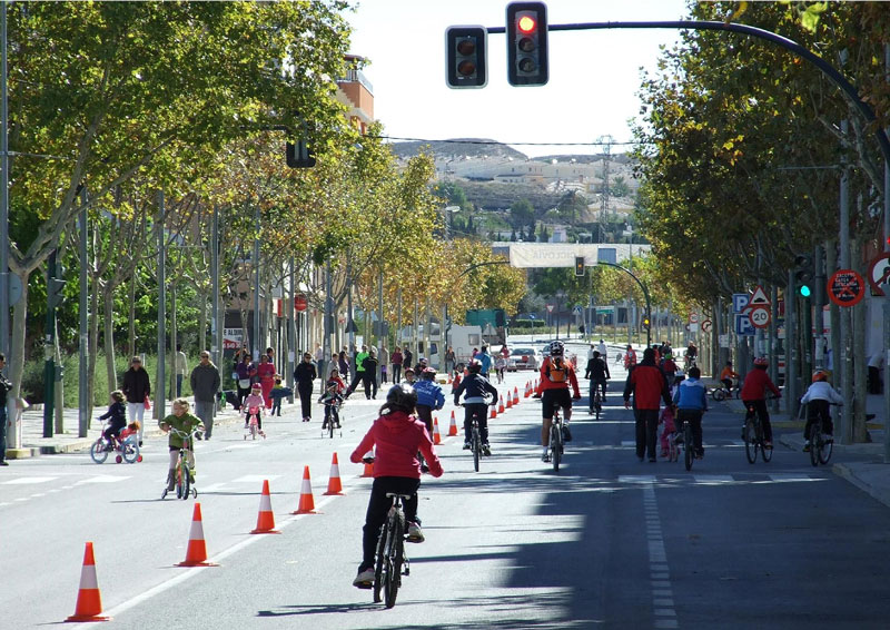 Photo of #Aspe: Ciclovía de primavera en la avenida Padre Ismael