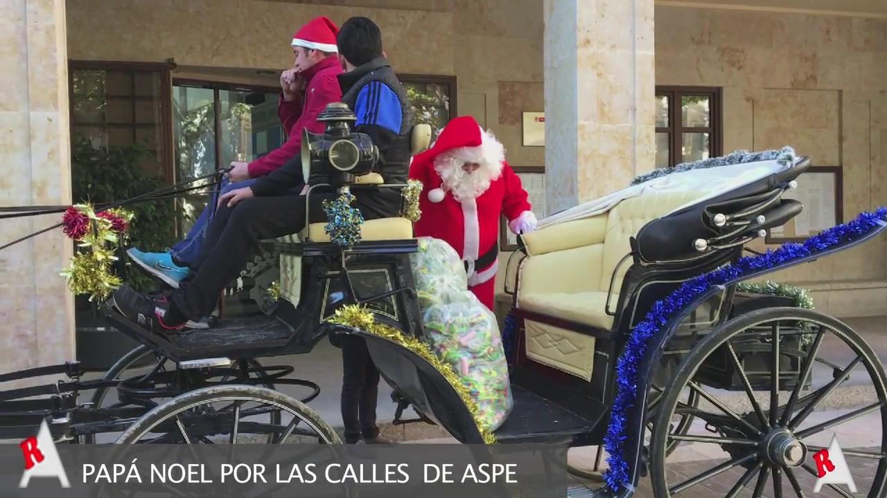 Photo of Vídeo: Visita de Papá Noel por las calles de Aspe 2016