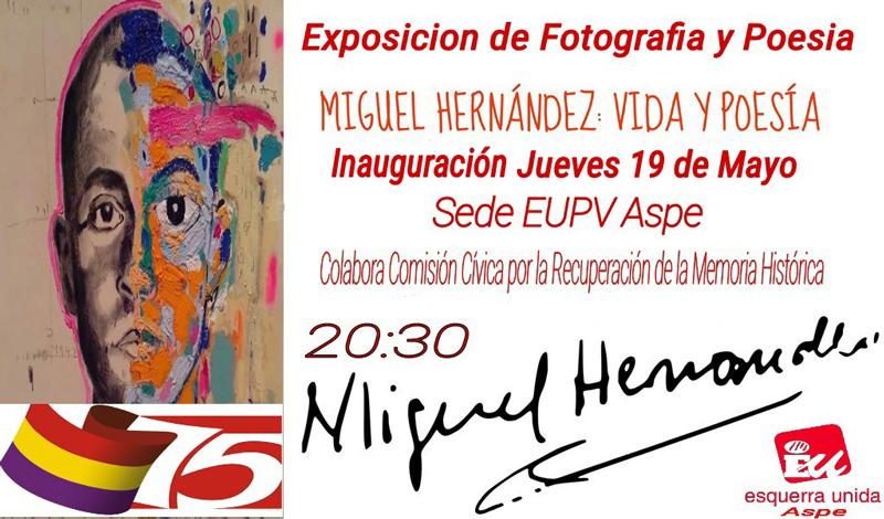 Photo of #Aspe: Exposición sobre Miguel Hernández en la sede de EU