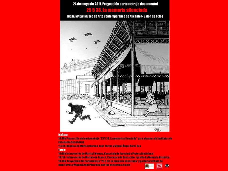 Photo of #Aspe: Juan Torres presenta un documental sobre el bombardeo del Mercado de Alicante
