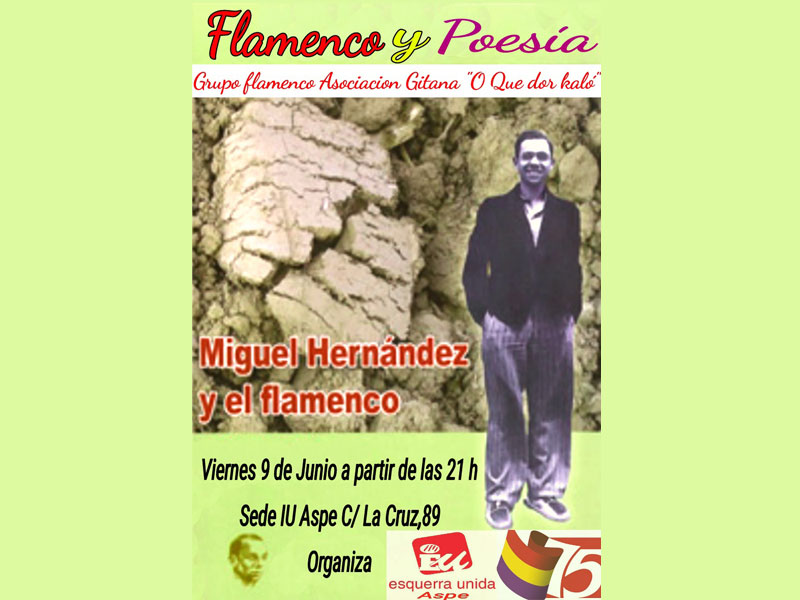 Photo of #Aspe: Miguel Hernández y el flamenco en la sede de IU Aspe