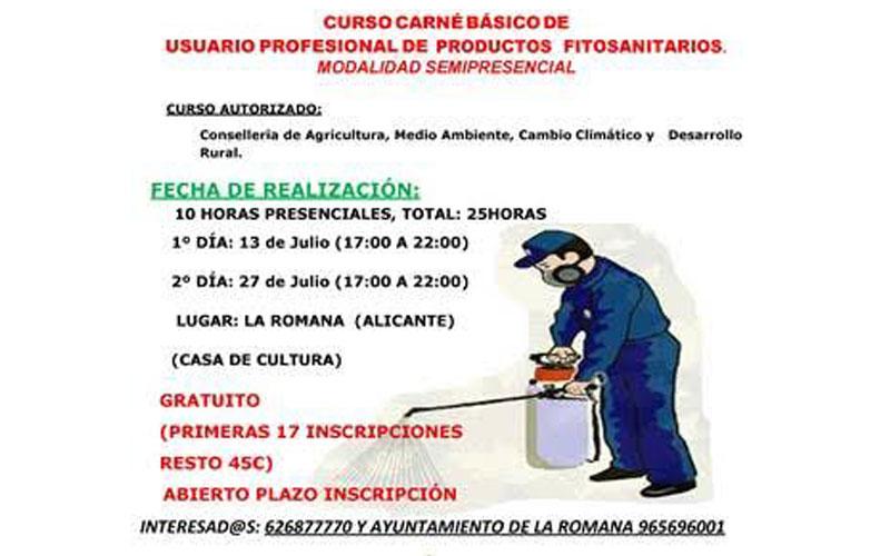 Photo of #La Romana: Curso para obtener el carné de usuario de productos Fitosanitarios en La Romana