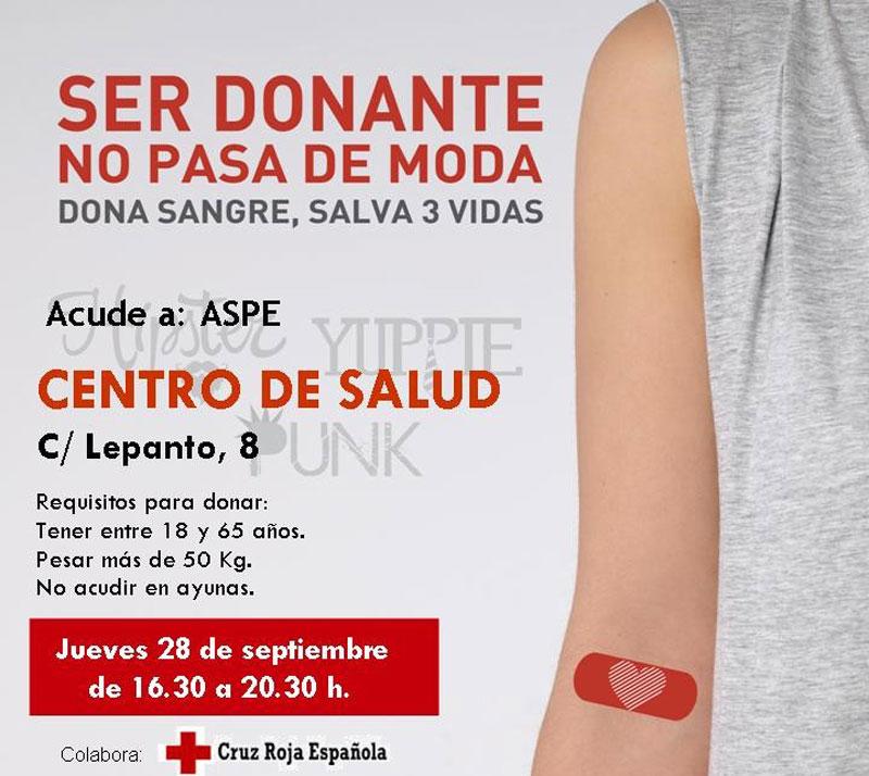 Photo of #Aspe: Donación de sangre en Aspe, el jueves 28 de septiembre