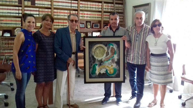 Photo of #Aspe recibe la donación de un cuadro del artista Juan Navarro Ramón