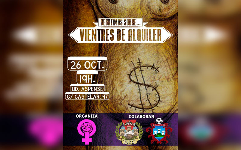 Photo of #Aspe: Charla sobre vientres de alquiler organizada por Aspe Feminista