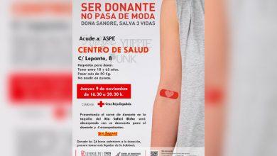 Photo of #Aspe: Este jueves, donación de sangre en Aspe