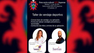 Photo of #Aspe: Taller sobre vendaje deportivo en ADN-UD Aspense