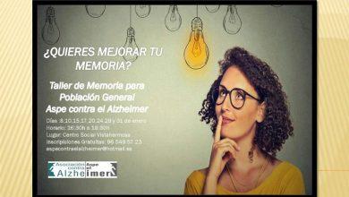 Photo of #Aspe: ¿Quieres mejorar tu memoria?