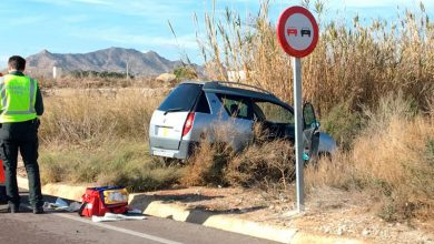 Photo of #Aspe: Accidente de dos vehículos en la carretera Aspe-Monforte