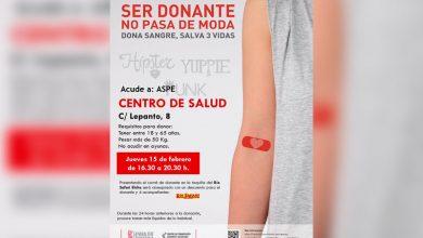 Photo of #Aspe: Donación de sangre este jueves en el Centro de Salud