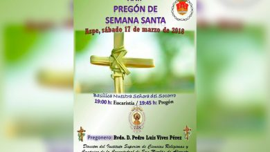 Photo of #Aspe: Pedro Luis Vives Pérez pronunciará este sábado el XXII Pregón de Semana Santa