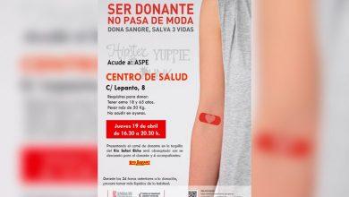 Photo of #Aspe: Donación de sangre el jueves 19 en Aspe