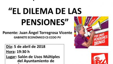 Photo of #Aspe: IU organiza una charla sobre pensiones