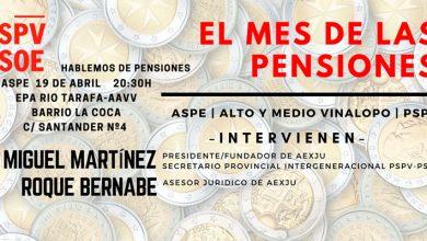 Photo of #Aspe: Charla sobre las pensiones organizada por el PSPV-PSOE
