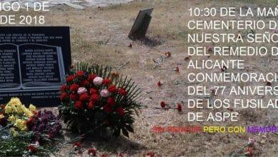 Photo of #Aspe: Homenaje a los 22 aspenes fusilados por el franquismo