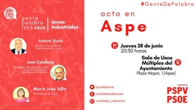 Photo of #Aspe: El PSOE difunde los resultados del gobierno de Ximo Puig