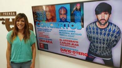 Photo of #Elda: David Otero (El Pescao), El Arrebato, Carlos Jean y Tamara en las Fiestas Mayores