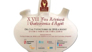 Photo of #Agost celebra la XVII Feria Artesanal y Gastronómica