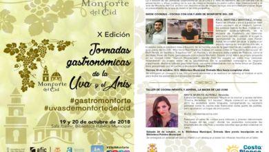 Photo of #Monforte celebra la X edición de las Jornadas Gastronómicas de la Uva y el Anís