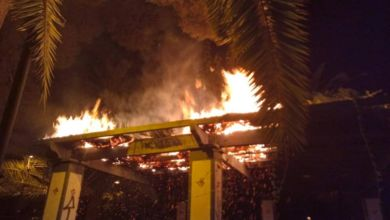 Photo of #Aspe: Incendio en una pérgola del parque Doctor Calatayud