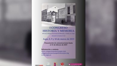 Photo of #Aspe organizará el I Congreso Historia y Memoria sobre la Guerra Civil