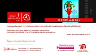 Photo of #Aspe: Narrativa escolar, poesía y premios Géminis en el Wagner
