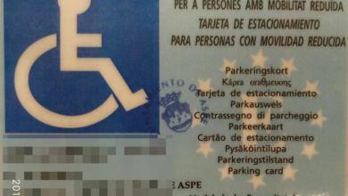 Photo of #Aspe: Detectan dos tarjetas falsas de aparcamiento para plazas de discapacitados