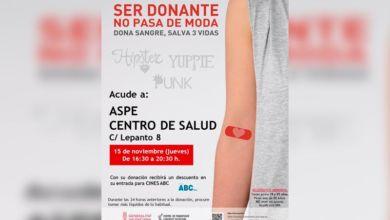 Photo of #Aspe: El jueves 15, donación de sangre