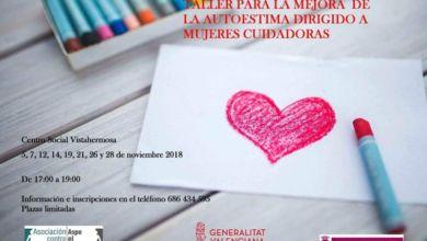 Photo of #Aspe: Organizan un taller para mejorar la autoestima de las mujeres cuidadoras