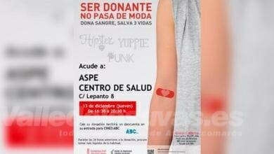 Photo of #Aspe: El jueves 13, donación de sangre