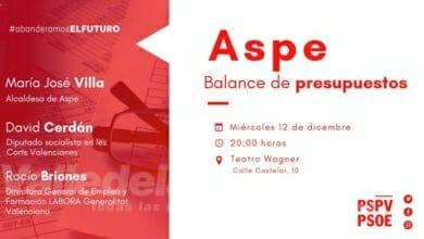 Photo of #Aspe: El PSPV-PSOE presenta el balance de presupuestos