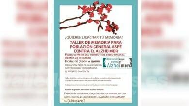 Photo of #Aspe contra el Alzheimer organiza un Taller de Memoria