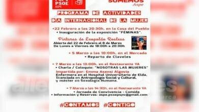 Photo of #Aspe: Mañana comienzan las actividades el PSOE para celebrar el Día de la Mujer