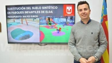 Photo of #Elda sustituirá 4.247 m2 de pavimento sintético en parques y jardines