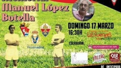 Photo of #Aspe: El Memorial Manuel López Botella será el 17 de marzo